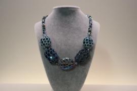 Halsketting art. 3932 - blauw/groen