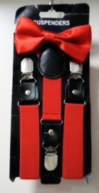 Kinderbretels met vlinderstrik art. 1104 - rood