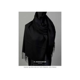 P-Modekontor pashmina shawl art.  1032100-34 - zwart