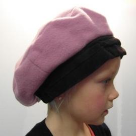 Kinderbaret art. E08077 - roze/donkerbruin
