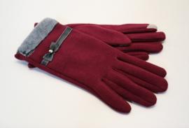 Dames handschoen art. 0102 - bordeaux