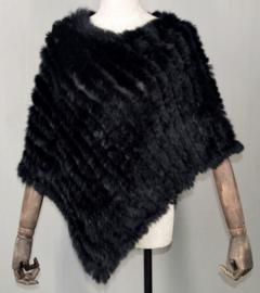 Poncho bont cape art. 5290 - zwart