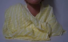 D&A damesshawl art. 19VWH02 - geel