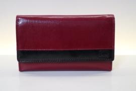 DD damesportemonnee art. 01E307 - rood/zwart