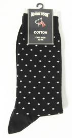 Bonnie Doon herensokken met print Tiny Dots Sock art. BN35.21.28 - zwart/wit