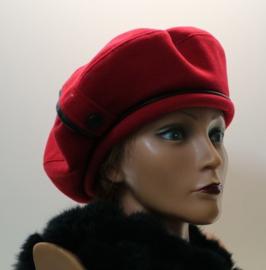 BWS damesbaret wol art. 924 - rood