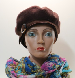 Fiebig damesbaret art. 53519 - bruin
