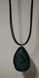 Lange ketting art. 8784 - zwart/groen