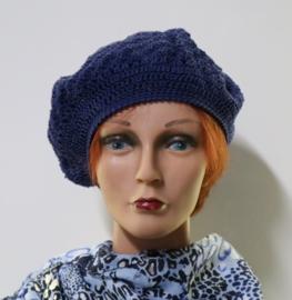 Damesbaret Sanne - indigoblauw