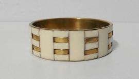 Armband art. 4511 - crème/goudkleur