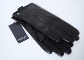 Roeckl lederen dameshandschoen Smart Classic met fleecevoering art. 13011-019 - donkerbruin