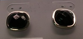 Oorbel steker art. 6300108120 - zwart/zilverkleur