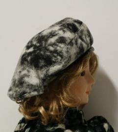 BWS damesbaret wol art. 900 - grijs gemêleerd
