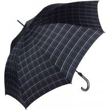 Knirps T.703 Automatic paraplu Check Black & Blue art. 3703 1000 - zwart/blauw
