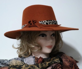 Weba Hats dameshoed  art. 9020 - paprika/cognac