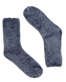 Bonnie Doon Fluffy Sock huissok - jeansblauw