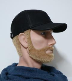 City Sport baseball cap leder art. 8901 - zwart