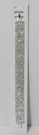 Strassarmband 7 rijig art. 12018 - zilverkleur