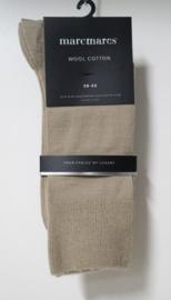 Marcmarcs herensokken effen Wool Cotton art. 92100 - beige
