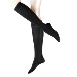 FALKE dameskniekousen Soft Merino - zwart