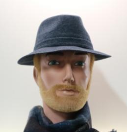 Stetson hoed Fedora art. 2140101 - blauw gemêleerd