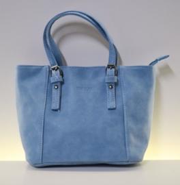 Beagles hand- en schoudertasje art. 16818 - lichtblauw