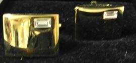 Manchetknopen heren rechthoekig - goudkleur