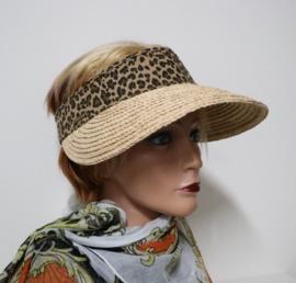 Hatland zonneklep Olinka Visor art. 37102 - naturel/leopard