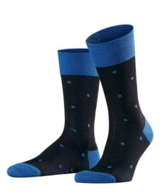 FALKE herensokken met print Dot art. 13269 - zwart/blauw