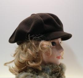 Dameskleppet Connemara - donkerbruin