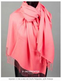 P-Modekontor pashmina shawl art.  1032100-7 - koraal