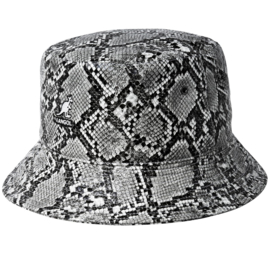 Kangol regenhoedje Snakeskin Bucket art. K4378 - grijs/zwart