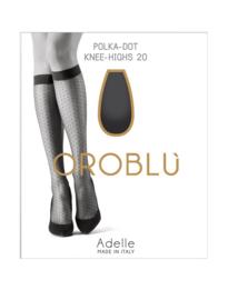 Oroblu Mi-bas kniekous polkadot Adelle - zwart