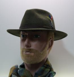 Stetson Powell Traveller hoed art. 2598123 - mosgroen gemêleerd