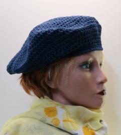 Damesbaret Eva 15 - indigoblauw