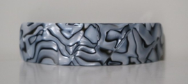 Dam'selle haarspeld marmerstructuur art. 26 830 - lichtgrijs/zwart