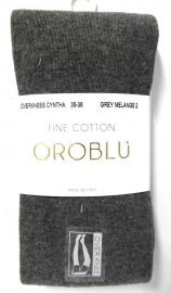 Oroblu overknees Cynthia Fine Cotton - grey melange