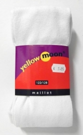 Yellow Moon kindermaillot uni art. 9300 - wit
