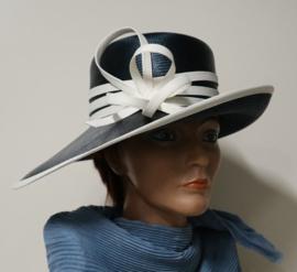 Whiteley dameshoed art.  638/321 - blauw/offwhite