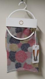 Oroblu pantysokje Roses - (zilver)grijs/roze/oker