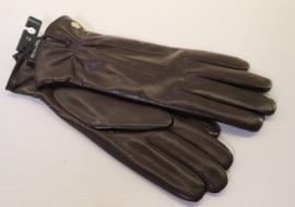 Roeckl lederen dameshandschoen met wolvoering art. 13011-220 - donkerbruin