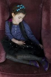 Bonnie Doon kindermaillot Cotton/Lurex art. 25.39.38 - zwart/zilver