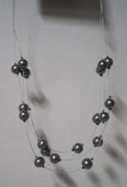 Halsketting art. 4201 - grijs/zilverkleur