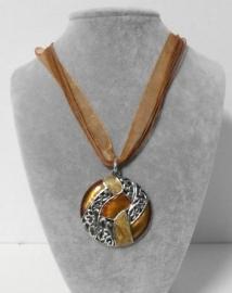 Halsketting art. 11200023 - bruin/zilverkleur
