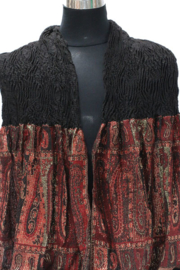 Damesshawl art. 8871 - zwart/roodbruin