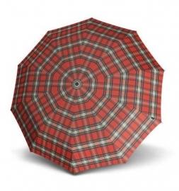 Knirps Long AC Light Aluminium paraplu art. 906 519 - rood geblokt