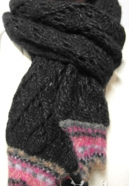 Laine Bonnet damesshawl art. 6816 - donkergrijs