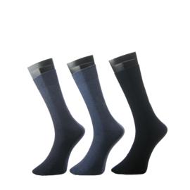 Teckel herensokken effen art. 1700-706 - lichtjeans/jeans/donkerblauw