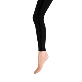 Yellow Moon long legging art. 20247 - zwart met glitterbies