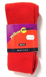 Yellow Moon kindermaillot uni art. 9300 - rood